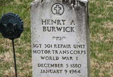BURWICK, HENRY A. - Erie County, Ohio | HENRY A. BURWICK - Ohio Gravestone Photos