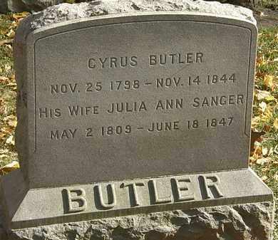 BUTLER, CYRUS - Erie County, Ohio | CYRUS BUTLER - Ohio Gravestone Photos