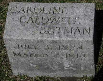 CALDWELL BUTMAN, CAROLINE - Erie County, Ohio | CAROLINE CALDWELL BUTMAN - Ohio Gravestone Photos