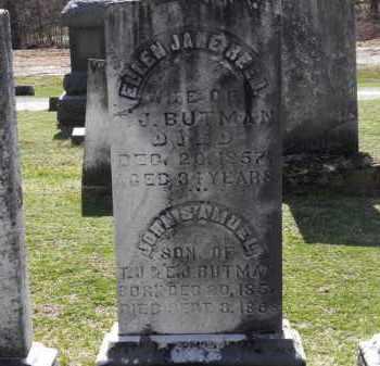 BUTMAN, JOHN SAMUEL - Erie County, Ohio | JOHN SAMUEL BUTMAN - Ohio Gravestone Photos