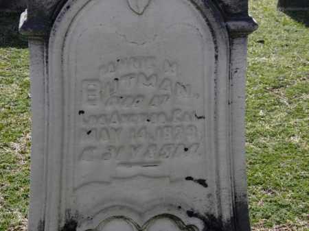 BUTMAN, FANNIE M. - Erie County, Ohio | FANNIE M. BUTMAN - Ohio Gravestone Photos