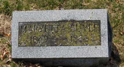 BUYER, MATYETTA - Erie County, Ohio | MATYETTA BUYER - Ohio Gravestone Photos
