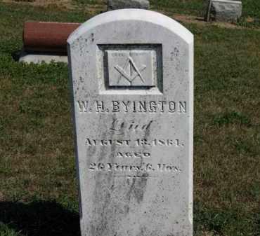 BYINGYON, W.H. - Erie County, Ohio | W.H. BYINGYON - Ohio Gravestone Photos
