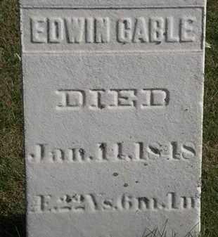 CABLE, EDWIN - Erie County, Ohio   EDWIN CABLE - Ohio Gravestone Photos