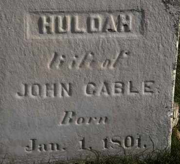 CABLE, HULDAH - Erie County, Ohio | HULDAH CABLE - Ohio Gravestone Photos