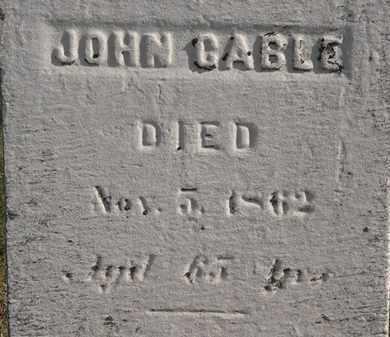 CABLE, JOHN - Erie County, Ohio | JOHN CABLE - Ohio Gravestone Photos