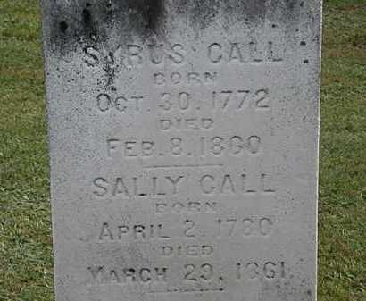 CALL, SALLY - Erie County, Ohio | SALLY CALL - Ohio Gravestone Photos