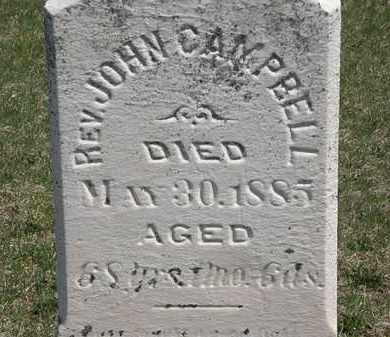 CAMPELL, REV. JOHN - Erie County, Ohio | REV. JOHN CAMPELL - Ohio Gravestone Photos
