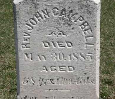 CAMPELL, REV. JOHN - Erie County, Ohio | REV. JOHN CAMPELL - Ohio Gravestone Photos