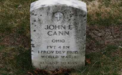 CANN, JOHN E. - Erie County, Ohio | JOHN E. CANN - Ohio Gravestone Photos