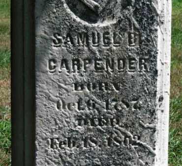 CARPENDER, SAMUEL B. - Erie County, Ohio   SAMUEL B. CARPENDER - Ohio Gravestone Photos