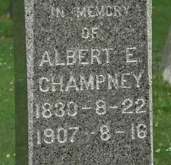 CHAMPNEY, ALBERT E. - Erie County, Ohio | ALBERT E. CHAMPNEY - Ohio Gravestone Photos