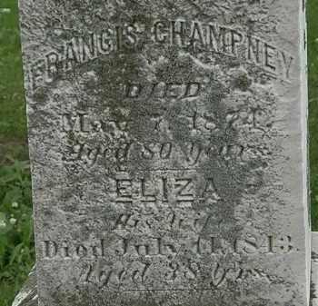 CHAMPNEY, ELIZA - Erie County, Ohio | ELIZA CHAMPNEY - Ohio Gravestone Photos