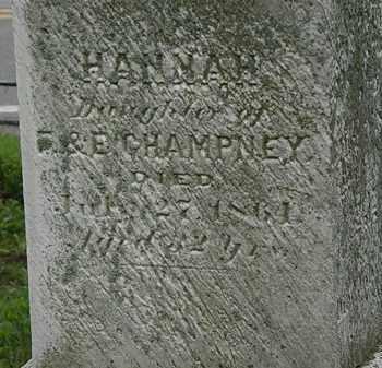 CHAMPNEY, HANNAH - Erie County, Ohio | HANNAH CHAMPNEY - Ohio Gravestone Photos