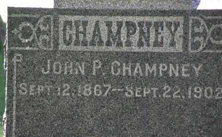 CHAMPNEY, JOHN P. - Erie County, Ohio | JOHN P. CHAMPNEY - Ohio Gravestone Photos