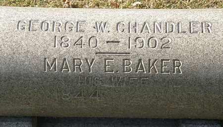 BAKER CHANDLER, MARY E. - Erie County, Ohio | MARY E. BAKER CHANDLER - Ohio Gravestone Photos
