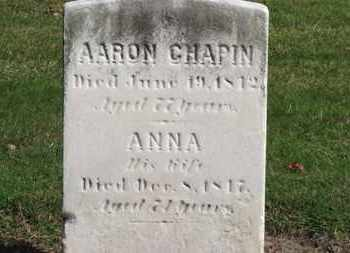 CHAPIN, ANNA - Erie County, Ohio | ANNA CHAPIN - Ohio Gravestone Photos