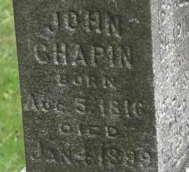 CHAPIN, JOHN - Erie County, Ohio   JOHN CHAPIN - Ohio Gravestone Photos