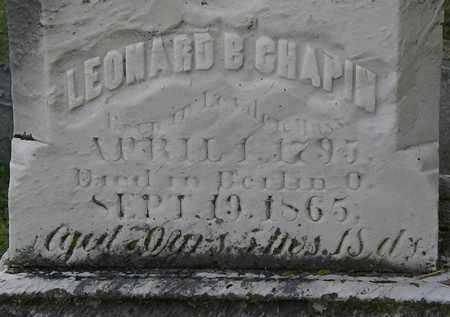 CHAPIN, LEONARD B. - Erie County, Ohio | LEONARD B. CHAPIN - Ohio Gravestone Photos