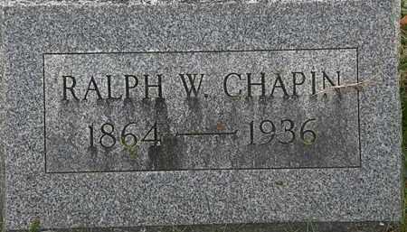 CHAPIN, RALPH W. - Erie County, Ohio   RALPH W. CHAPIN - Ohio Gravestone Photos