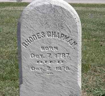 CHAPMAN, RHODES - Erie County, Ohio | RHODES CHAPMAN - Ohio Gravestone Photos