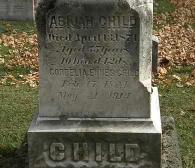 CHILD, ABIJAH - Erie County, Ohio | ABIJAH CHILD - Ohio Gravestone Photos