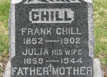 CHILL, JULIA - Erie County, Ohio | JULIA CHILL - Ohio Gravestone Photos
