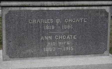 CHOATE, ANN - Erie County, Ohio | ANN CHOATE - Ohio Gravestone Photos