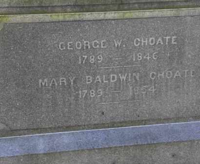 BALDWIN CHOATE, MARY - Erie County, Ohio | MARY BALDWIN CHOATE - Ohio Gravestone Photos