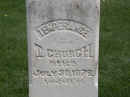 CHURCH, TEMPERANCE - Erie County, Ohio | TEMPERANCE CHURCH - Ohio Gravestone Photos