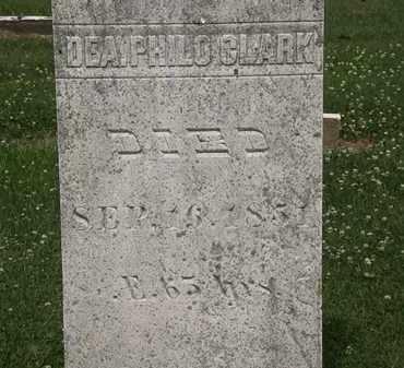 CLARK, DEA. PHILO - Erie County, Ohio   DEA. PHILO CLARK - Ohio Gravestone Photos