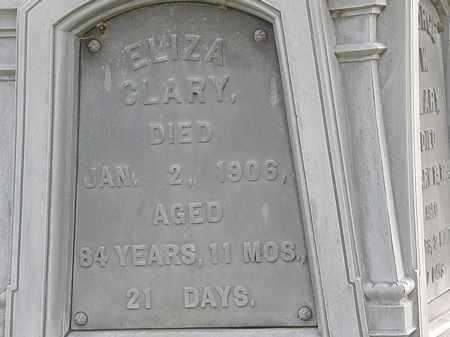 CLARY, ELIZA - Erie County, Ohio | ELIZA CLARY - Ohio Gravestone Photos