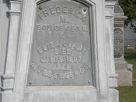 CLARY, FREDERICK M. - Erie County, Ohio | FREDERICK M. CLARY - Ohio Gravestone Photos