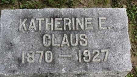 CLAUS, KATHERINE E. - Erie County, Ohio   KATHERINE E. CLAUS - Ohio Gravestone Photos