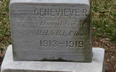 CLOSE, GENEVIEVE R. - Erie County, Ohio | GENEVIEVE R. CLOSE - Ohio Gravestone Photos