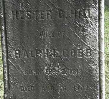 COBB, HESTER C. - Erie County, Ohio | HESTER C. COBB - Ohio Gravestone Photos