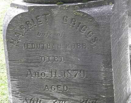GRIGGS COBB, HARRIET - Erie County, Ohio | HARRIET GRIGGS COBB - Ohio Gravestone Photos