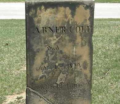 COLE, ABNER - Erie County, Ohio   ABNER COLE - Ohio Gravestone Photos