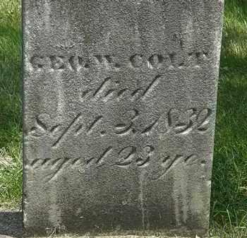 COLT, GEO W. - Erie County, Ohio | GEO W. COLT - Ohio Gravestone Photos