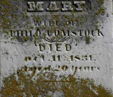 COMSTOCK, MARY - Erie County, Ohio | MARY COMSTOCK - Ohio Gravestone Photos