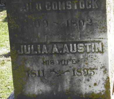 AUSTIN COMSTOCK, JULIA A. - Erie County, Ohio | JULIA A. AUSTIN COMSTOCK - Ohio Gravestone Photos