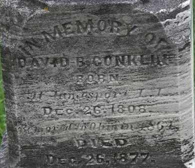 CONKLIN, DAVID B. - Erie County, Ohio | DAVID B. CONKLIN - Ohio Gravestone Photos