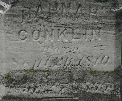 CONKLIN, HANNAH - Erie County, Ohio | HANNAH CONKLIN - Ohio Gravestone Photos
