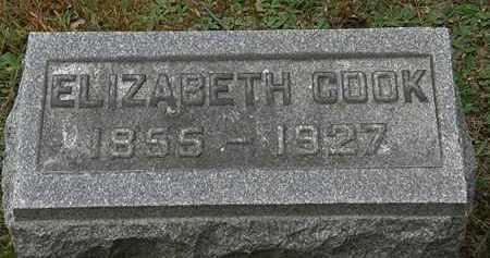 COOK, ELIZABETH - Erie County, Ohio | ELIZABETH COOK - Ohio Gravestone Photos