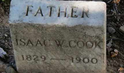 COOK, ISAAC W. - Erie County, Ohio | ISAAC W. COOK - Ohio Gravestone Photos