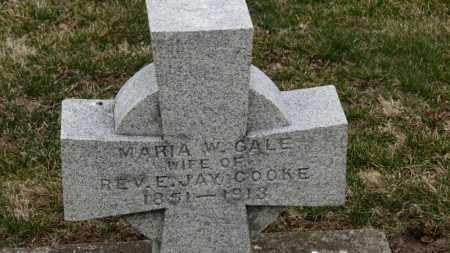 GALE COOKE, MARIA W. - Erie County, Ohio | MARIA W. GALE COOKE - Ohio Gravestone Photos