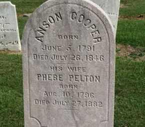 PELTON COOPER, PHEBE - Erie County, Ohio   PHEBE PELTON COOPER - Ohio Gravestone Photos