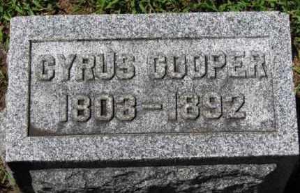 COOPER, CYRUS - Erie County, Ohio | CYRUS COOPER - Ohio Gravestone Photos