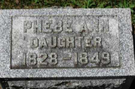 COOPER, PHEBE ANN - Erie County, Ohio | PHEBE ANN COOPER - Ohio Gravestone Photos