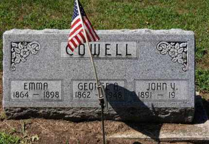 COWELL, EMMA - Erie County, Ohio | EMMA COWELL - Ohio Gravestone Photos